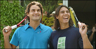 Federer and Nadal Photo