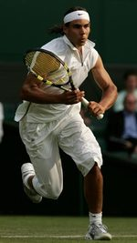 Nadal in Wimbledon Whites Photo